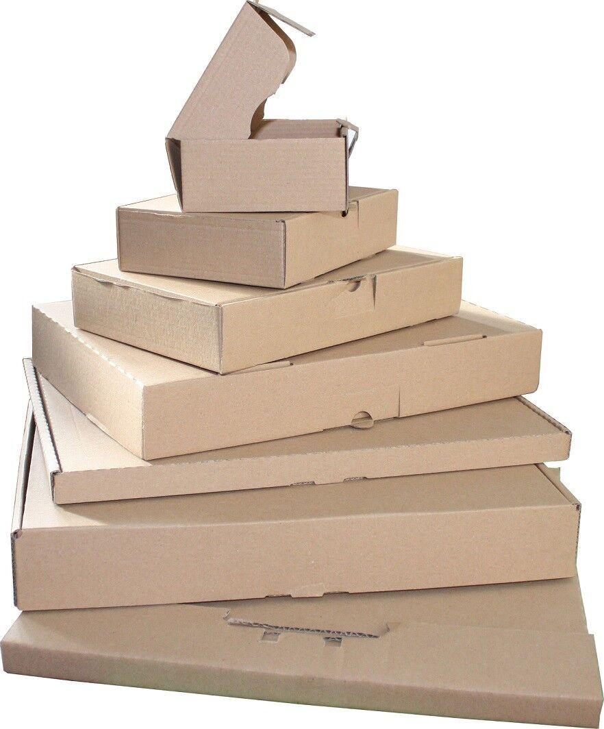 100 Lettera Maxi Scatole 260 x 180 x 50 mm Cartoni Spedizione Merci Post Brief Marrone
