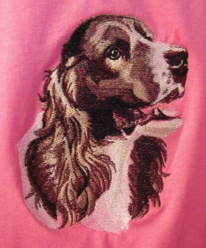 Embroidered Short-Sleeved T-Shirt - English Springer Spaniel BT2787