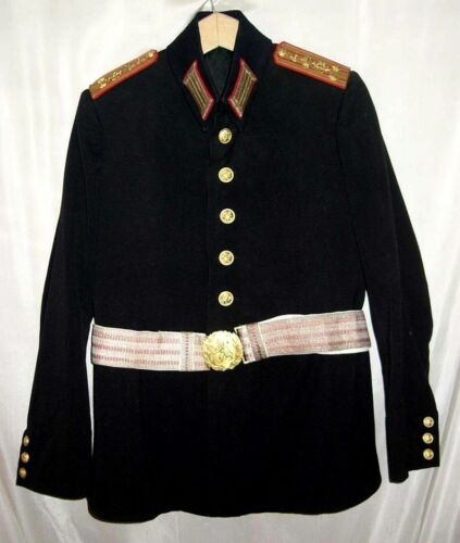 Rare WWII Bulgarian royal army parade uniform tunic with belt Infantry colonel