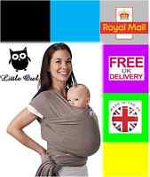 Baby Wrap Sling Carrier Breathable, Super Light And Silky Soft - Many Colours - little owl - ebay.co.uk