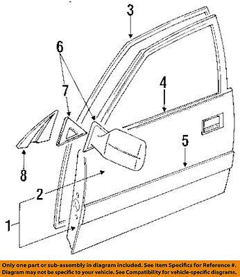 TOYOTA OEM 91-97 Land Cruiser Front Door-Shell Frame Panel Left 6700260343
