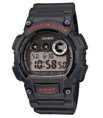 Casio Classic Watch * W735H-8AV Digital Vibration Alarm Dark Grey COD PayPal