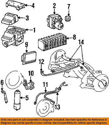 MERCEDES OEM 1994 SL320-ABS Anti-Lock Brakes Control Module Unit 0135458832