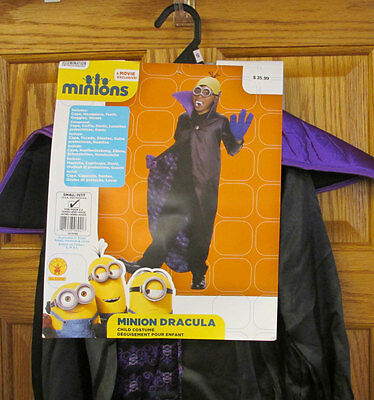 Minion Dracula Halloween Costume Outfit Cape Goggles Teeth Minions Movie Small - Minions Halloween Outfit
