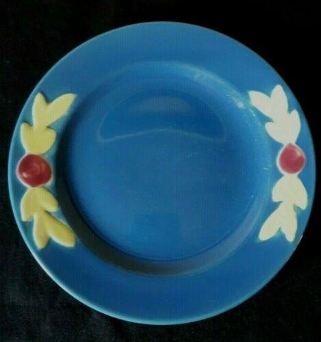 "Vintage Coors Pottery - Rosebud - Dessert Plate (6"") - Blue"