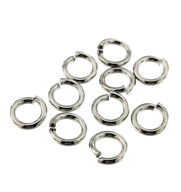 Stainless Steel Jump Rings 10mm - Open 13 Gauge - 50 Rings - J169