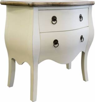 French Provincial Furniture Chest of Drawers Commode White