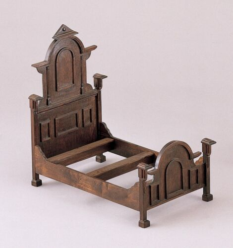 "VICTORIAN HAND MADE WOOD DOLL BED FITS 19""  DOLL BRU JUMEAU  KESTNER STEINER"