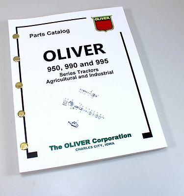 Oliver 950 990 995 Tractor Parts Assembly Manual Catalog Ag. Industrial Book