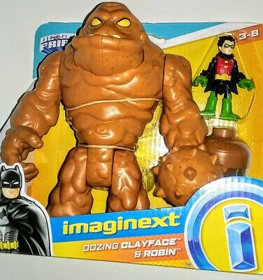 ☆☆ OOZING CLAYFACE & ROBIN Boy Wonder SUPER FRIENDS ☆ BATMAN FP IMAGINEXT ☆