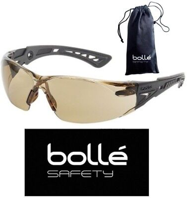 Bolle 40225 Rush Plus Safety Glasses Blackgray Temples Twilight Anti-fog Lens