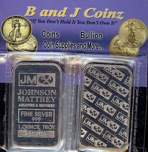 1-TROY-OZ-FRESHLY-MINTED-JOHNSON-MATTHEY-BAR-999-FINE-SILVER-BULLION-BAR-SEALED