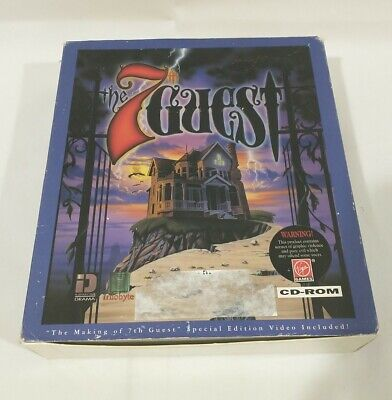 The 7th Guest horror PC game by Virgin Trilobyte Big Box CD-ROM Adventure w/ vhs