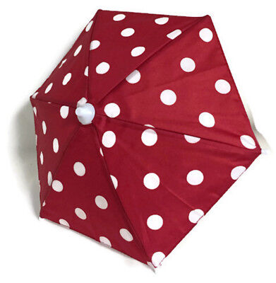 Red Polka Dots (Red with White Polka Dots Umbrella for 18 inch American Girl Doll Clothes)