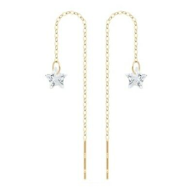 TPD Solid 14K Yellow Gold Twinkle Basic Long Threader Drop Dangle a Pair Earring