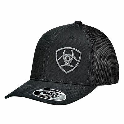 ARIAT MEN'S BLACK BALL CAP WITH FLEXFIT 110 TECH BASEBALL Man Ball Cap