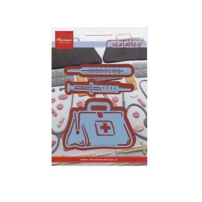 Medical Bag Metal Craft Die Cut Doctor Marianne Cutting Dies LR0363 Get Well Get Well Bag