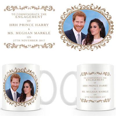HRH Prince Harry & Ms Meghan Markle Engagement Commemorative Ceramic Coffee Mug