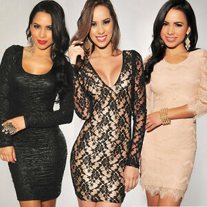 Ladies-Mini-Dress-Party-Evening-Dress-Club-Wear-Cocktail-Peplum-Dress-8-10-12-14