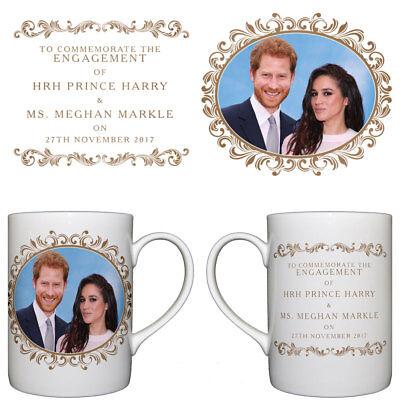 HRH Prince Harry & Ms Meghan Markle Engagement Commemorative Fine Bone China Mug