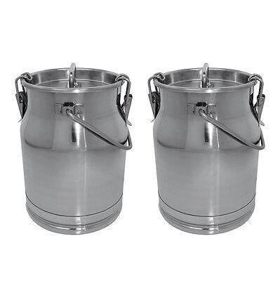 SONDERANGEBOT !!  2 Milchkannen Edelstahl 10 Liter