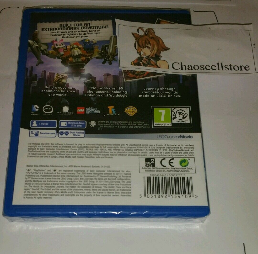 Lego Movie Videogame Psv New Sealed Uk Pal Game Sony Playstation Ps Vita The Video Region 1 English Of 2only 2 Available See More