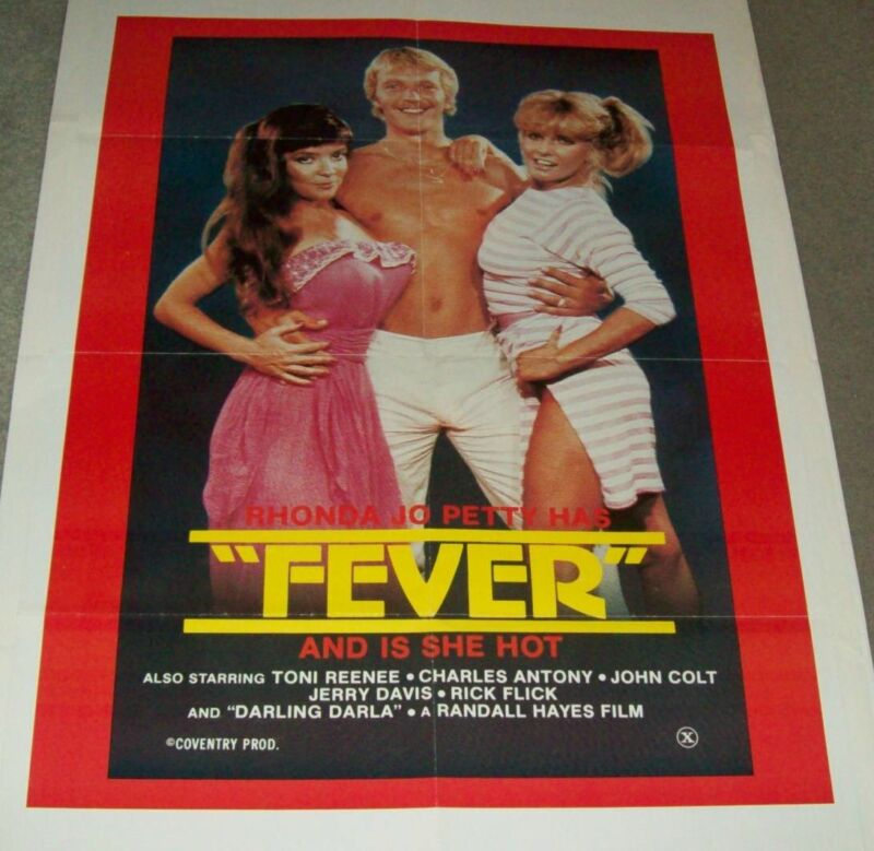 """LATE 20TH. CENTURY ADULT MOVIE THEATRE POSTER, """"FEVER""""."""