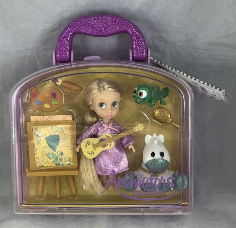 Disney Animators Collection Tangled Rapunzel Mini Doll Playset Carrying Case