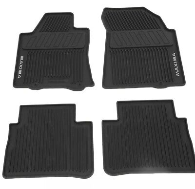 2016-2020 Nissan Maxima All Season All Weather Rubber Floor Mats Genuine OEM New Nissan Maxima Rubber