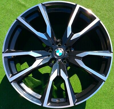 Factory BMW X7 M50i Wheels 22 inch Perfect Black Set 4 Genuine Original OEM 755M