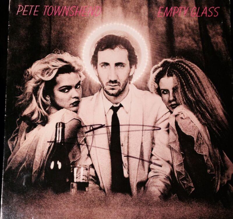 """PETE TOWNSHEND SIGNED AUTOGRAPH ORIGINAL THE WHO """"EMPTY GLASS"""" ALBUM VINYL LP"""