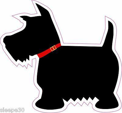 Scottie Dog Scottish Terrier Decal 4 inch Vinyl Decal Sticker *Free (Terrier Dog Vinyl Decal Sticker)