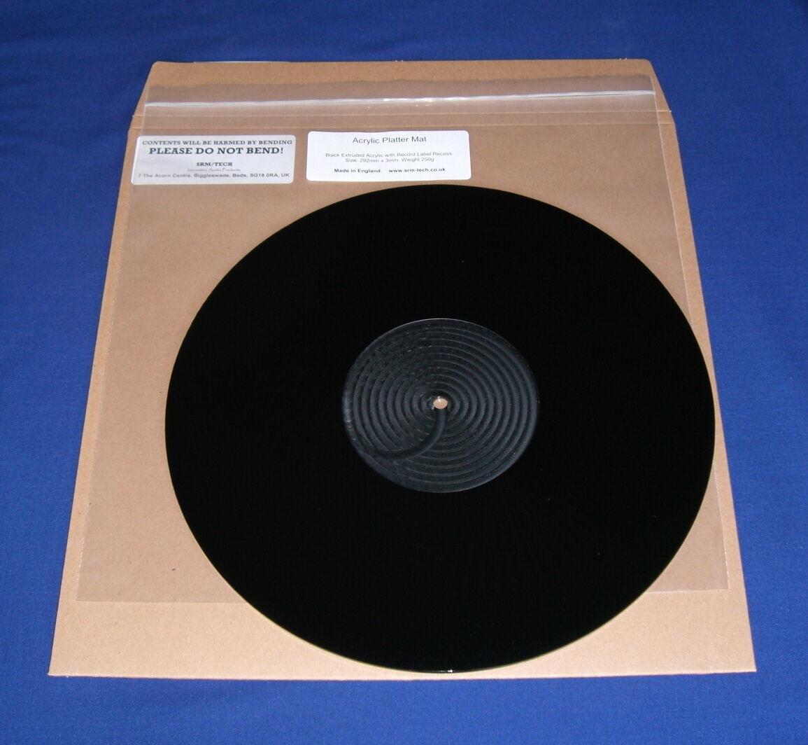 SRM TECH ACRYLIC TURNTABLE PLATTER MAT FOR TECHNICS SL1200 SL1210 - ALL VARIANTS