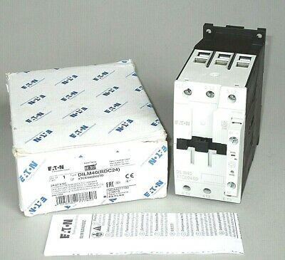 Eaton Dilm40 Contactor Xtce040d00td 24 Vdc Coil 30 Hp Free Priority Mail