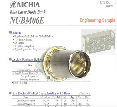 Nichia Nubm06 440nm-450nm 4w High Power Multi-ld Bank Blue Laser Diode Tin-pin