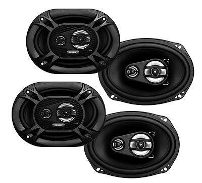 4) Soundstorm SSL EX369 6x9\ 3 Way 300 Watt Car Audio Stereo Coaxial Speakers