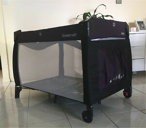 Steelcraft 2 in 1 portable cot Belmont Brisbane South East Preview