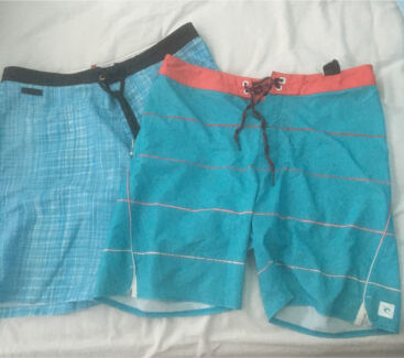 2 pairs of men's board shorts