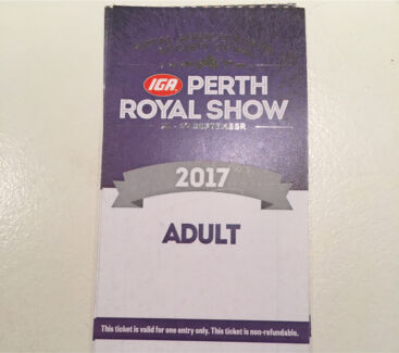 Perth Royal show ADULT TICKET