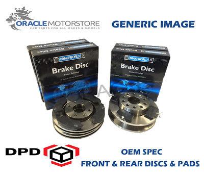 OEM SPEC FRONT AND REAR DISCS PADS FOR AUDI Q3 QUATTRO 2.0 TURBO 170 BHP 2011-