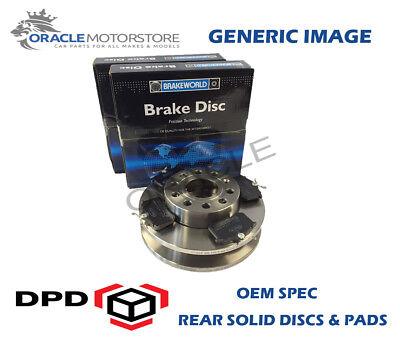 OEM SPEC REAR DISCS PADS 286mm FOR AUDI Q3 1.4 TURBO 150 BHP 2014-