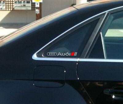 AUDI A3 A4 A6 A8 RS3 RS4 RS6 Q5 Q7 TT S Line Decal sticker emblem logo S (Pair)