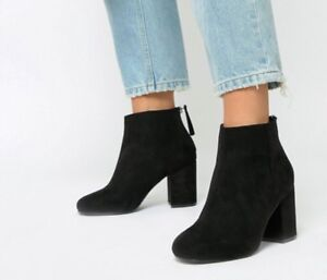 ASOS design Wide Fit  Zip Ankle Boots
