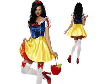 Adult Snow White Costume Women Cosplay Outfit Fairy Tale Female Fancy Dress - Snow White Outfit Adults