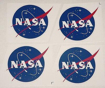Aufkleber 4 Stück NASA Raumfahrt 8x7,4cm  ............AU006