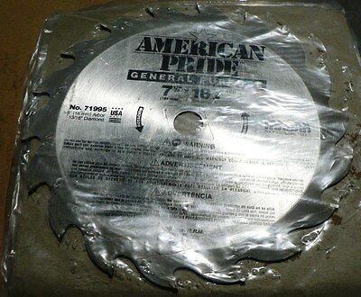 American Pride 7-14 X 18t No 71995 1316 Diamond 58 Arbor Circular Saw Blade