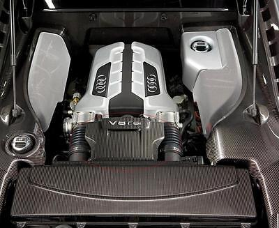Carbono Fibra Motor Tapa Superior Panel Placa Compatible Para Audi 2009 R8