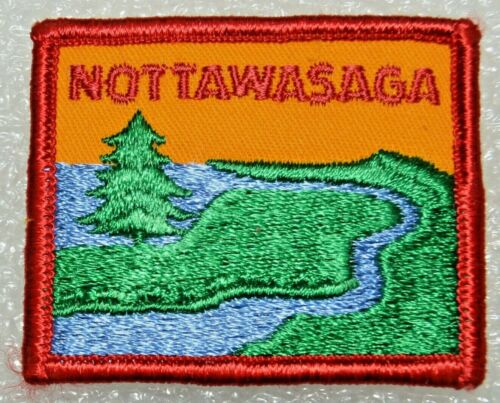 NOTTAWASAGA DISTRICT Rectangle Square Corners Boy Scout  Badge Canadian (ONN4A)