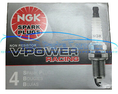 4 Ngk V Power Racing Spark Plugs R5671a 8 4554 Colder High Power Turbo Nitrous