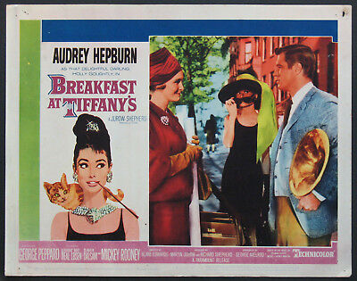 BREAKFAST AT TIFFANY'S AUDREY HEPBURN GIVENCHY DRESS 1961 LOBBY CARD #8
